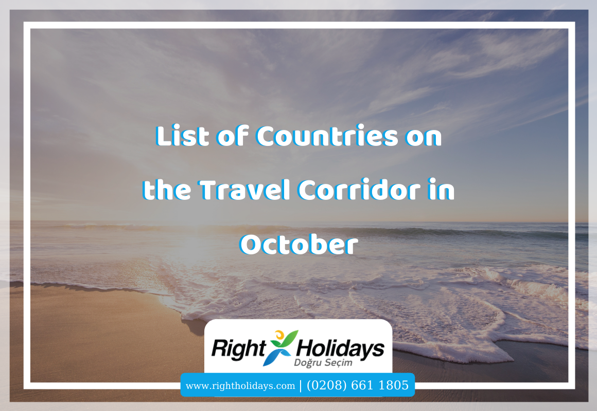 List of Countries on the Travel Corridor in October